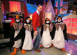 THIS YEARS LATE LATE TOY SHOW PROMISES TO BE SUPERCALIFRAGILILSTICEXPIALIDOCIOUS&hellip;. <br /> Ryan Tubridy is pictured on the set of this year&rsquo;s Late Late Toy Show with Maeve Gallagher (9) from Carlow, Emma Murray (9) from Carlow, Ella Molloy (9) from Navan and Grace Deegan (8) from Navan and it promises to be supercalifragililsticexpialidocious! The theme of this year&rsquo;s show is based on the much loved musical film Mary Poppins. Picture Andres Poveda