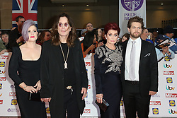 Kelly Osbourne, Ozzy Osbourne, Sharon Osbourne, Jack Osbourne, Pride of Britain Awards, Grosvenor House Hotel, London UK. 28 September, Photo by Richard Goldschmidt /LNP © London News Pictures