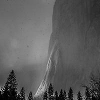 El Capitan in a Hailstorm, Yosemite