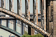 Old arch bridges and cross Bronx expressway NYC 2009