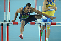 ATHLETICS - WORLD CHAMPIONSHIPS INDOOR 2012 - ISTANBUL (TUR) 09 to 11/03/2012 - PHOTO : STEPHANE KEMPINAIRE / KMSP / DPPI - <br /> HEPTATHLON - 60 M HURDLES - ASHTON EATON (USA)