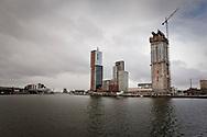 ROTTERDAM, THE NETHERLANDS, January 28, 2010  Hoogbouw en nieuwbouw op de Kop van Zuid. (photo by Michel de Groot)