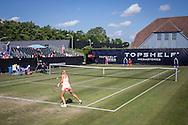 ROSMALEN, tennis Topshelf Open 2015, 10-06-2015, Autotron Rosmalen, Kurumi Nara (JPN) (R), Kristina Mladenovic (FRA) (L), overzicht court 1.