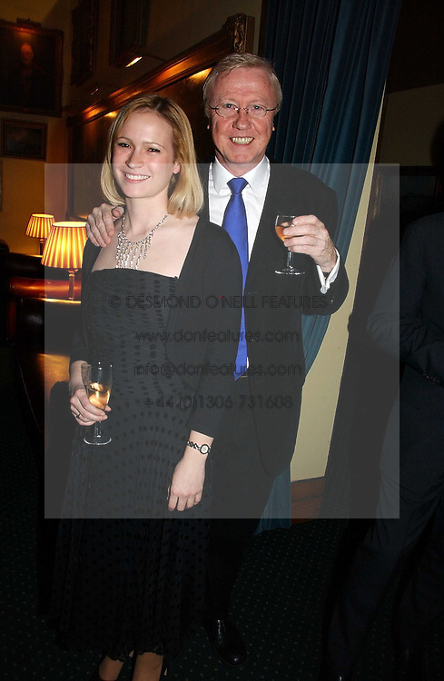 TV producer MIKE HOLLINGSWORTH former husband of Anne Diamond and MISS KIMBERLEY STEWART-MOLE at a reception to support The Hyde Park Appeal at the Officers Mess, Hyde Park Barracks, London SW1 on 24th January 2007.<br />