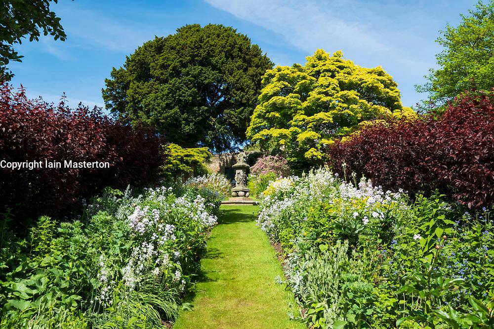 Inveresk Lodge Garden in Inveresk village, East Lothian, Scotland, UK