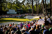 Kiradech Aphibarnrat putts at the 16th green during the third round of the 2016 Masters Tournament. Golf: 2016 Masters<br /> Round 3 Saturday<br /> Augusta National/Augusta, GA, USA<br /> 04/09/2016<br /> SI-14 TK3<br /> Credit: Darren Carroll