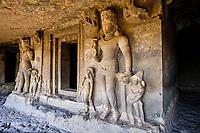 Inde, état de Maharashtra, Ellora, grottes d'Ellora classées au Patrimoine mondial de l'UNESCO, grotte N°20 // India, Maharashtra, Ellora cave temple, Unesco World Heritage, cave N°20