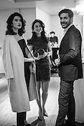 JAMILA ASKAROVA, MILA ASKAROVA, IGNAZIO CORACI, Whitechapel Gallery Art Icon 2015 Gala dinner supported by the Swarovski Foundation. The Banking Hall, Cornhill, London. 19 March 2015