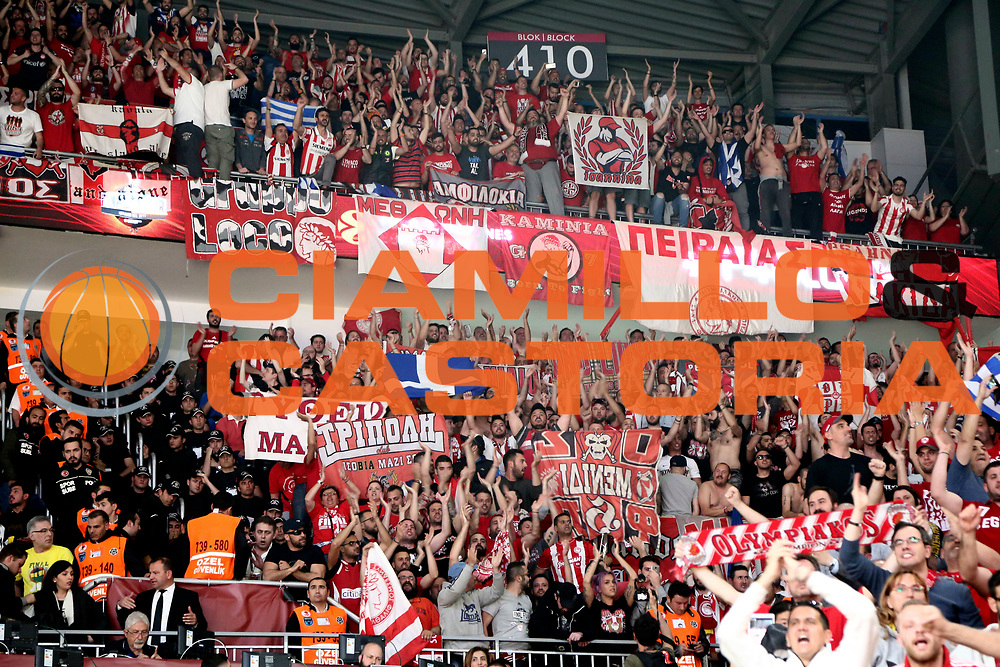 tifosi Olympiakos Piraeus<br /> Fenerbahce Istanbul - Olympiakos Piraeus<br /> Euroleague Final Four 2017<br /> Finale 1 - 2 Posto<br /> Euroleague 2016/2017<br /> Istanbul, 21/05/2017<br /> Foto M.Ceretti / Ciamillo - Castoria