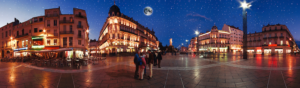 Montpelier France Old City Plaza Shopping CGI Backgrounds, ,Beautiful Background