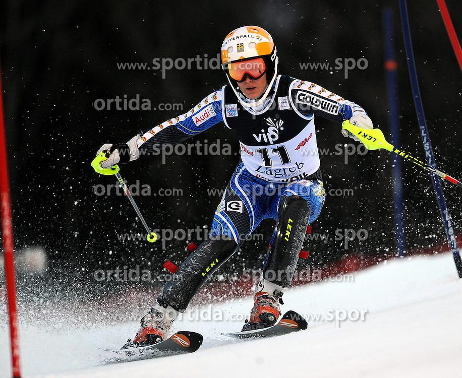 04.01.2013, Crveni Spust, Zagreb, AUT, FIS Ski Alpin Weltcup, Slalom, Damen, 1. Lauf, im Bild Maria Pietilae-Holmner (SWE) // Maria Pietilae-Holmner of Sweden  in action during 1st Run of the ladies Slalom of the FIS ski alpine world cup at Crveni Spust course in Zagreb, Croatia on 2013/01/04. EXPA Pictures © 2013, PhotoCredit: EXPA/ Erich Spiess