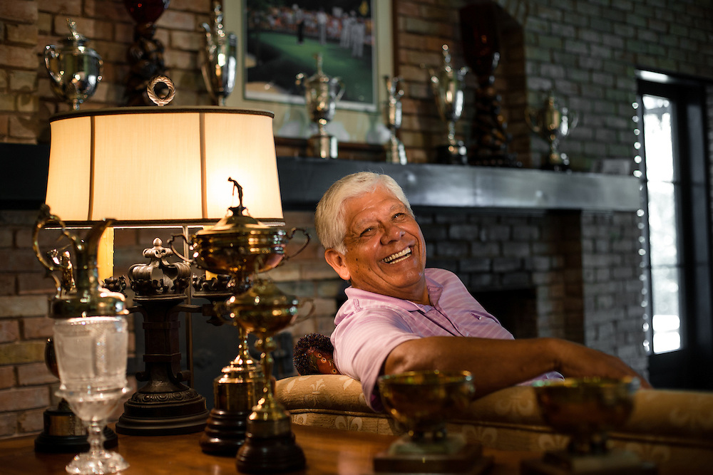 DALLAS, TX - SEPTEMBER 12: Golfer Lee Trevino photographed at his home in Dallas, Texas on September 12, 2012. Photograph © 2012 Darren Carroll
