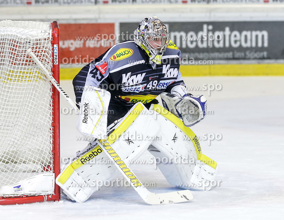 20.12.2015, Messestadion, Dornbirn, AUT, EBEL, Dornbirner Eishockey Club vs HCB Suedtirol, 33. Runde, im Bild Florian Hardy, (Dornbirner Eishockey Club, #49)// during the Erste Bank Icehockey League 33th round match between Dornbirner Eishockey Club and HCB Suedtirol at the Messestadion in Dornbirn, Austria on 2015/12/20, EXPA Pictures © 2015, PhotoCredit: EXPA/ Peter Rinderer