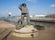 RNLI Lifeboatman statue, Lowestoft, Suffolk, England