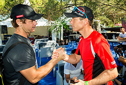 Blaz Kavcic and Uros Mesojedec after the Petrol VIP tournament at ATP Challenger Tilia Slovenia Open 2016, on August 6, 2016 in Portoroz/Portorose, Slovenia. Photo by Vid Ponikvar / Sportida
