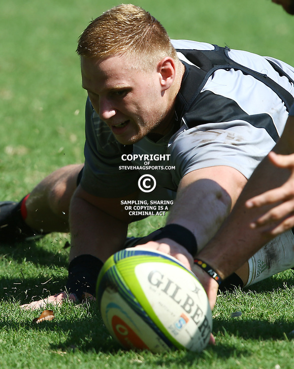 DURBAN, SOUTH AFRICA, 4 April, 2016 - Jean-Luc du Preez during The Cell C Sharks training session  at Growthpoint Kings Park in Durban, South Africa. (Photo by Steve Haag)<br /> images for social media must have consent from Steve Haag