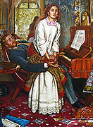 Sir John Everett Millais, 1829 –  1896 English painter. The Awakening Conscience (1853)