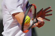 Tennis ball 2017 illustration sponsored by Babolat at service during the Roland Garros French Tennis Open 2017, preview, on May ......, 2017, at the Roland Garros Stadium in Paris, France - Photo Stephane Allaman / ProSportsImages / DPPI