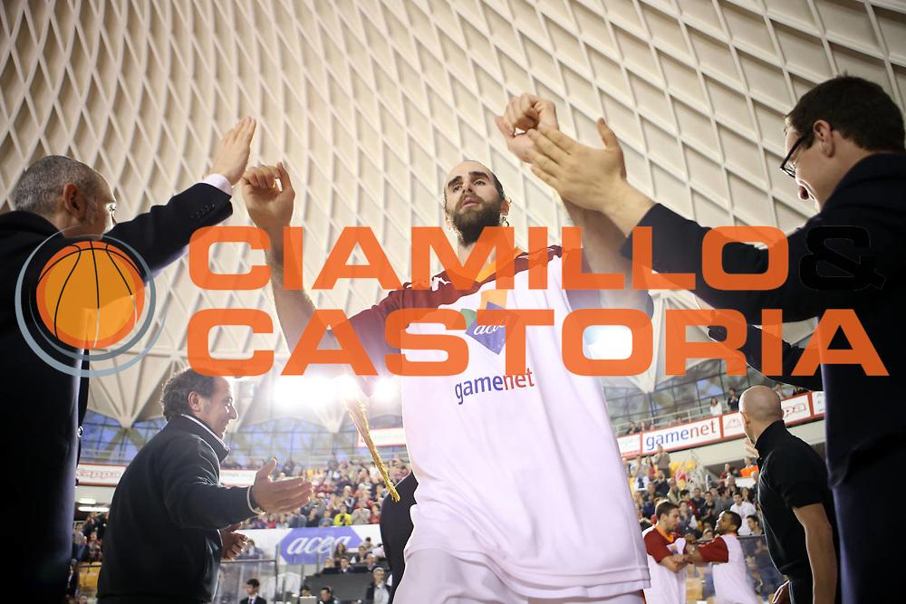 DESCRIZIONE : Roma Lega A 2012-13 Acea Roma Vanoli Cremona<br /> GIOCATORE : Luigi Datome <br /> CATEGORIA : presentazione rima della partita<br /> SQUADRA : Acea Roma<br /> EVENTO : Campionato Lega A 2012-2013 <br /> GARA : Acea Roma Vanoli Cremona<br /> DATA : 03/03/2013<br /> SPORT : Pallacanestro <br /> AUTORE : Agenzia Ciamillo-Castoria/ElioCastoria<br /> Galleria : Lega Basket A 2012-2013  <br /> Fotonotizia : Roma Lega A 2012-13 Acea Roma Vanoli Cremona<br /> Predefinita :
