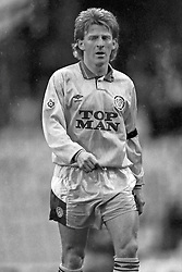 Gordan Strachan Leeds United, Coventry v Leeds United, First Division, Highfield Road,  1991