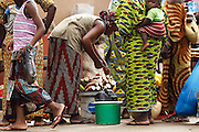 Woman selling vegetables at the market in the town of Kayes, Mali on Thursday September 2, 2010.