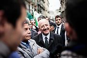 Napoli. Vincenzo De Luca, sindaco di Salerno in piazza Sanità a Napoli in occasione del comizio elettorale per le elezioni europee di Matteo Renzi, Presidente del Consiglio, nonché segretario del Partito Democratico.