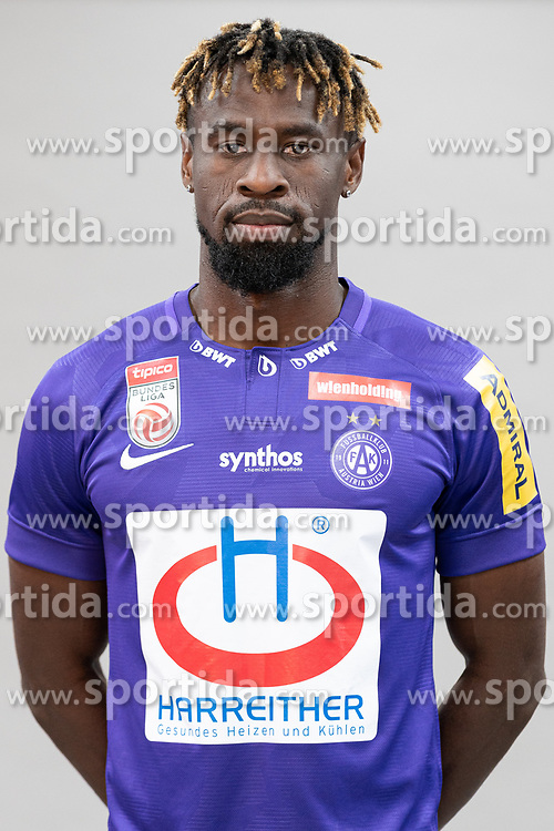 16.07.2019, Generali Arena, Wien, AUT, 1. FBL, FK Austria Wien, Fototermin, im Bild Osagie Bright Edomwonyi // Osagie Bright Edomwonyi during the official team and portrait photoshooting of tipico Bundesliga Club FK Austria Wien for the upcoming Season at the Generali Arena in Vienna, Austria on 2019/07/16. EXPA Pictures © 2019, PhotoCredit: EXPA/ Florian Schroetter