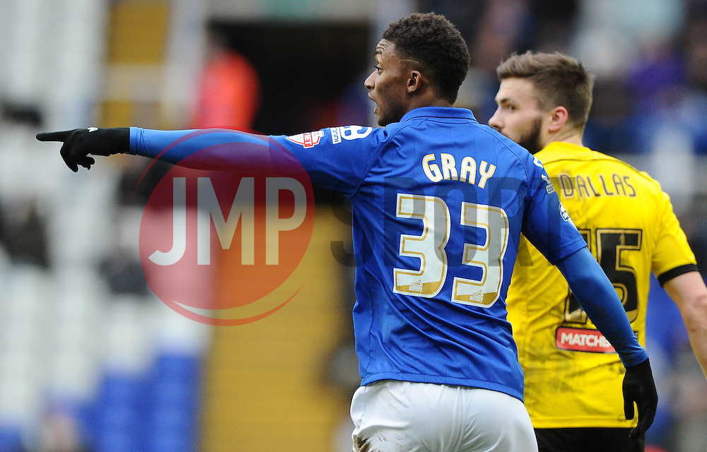 Birmingham City's Demarai Gray  - Photo mandatory by-line: Joe Meredith/JMP - Mobile: 07966 386802 - 28/02/2015 - SPORT - Football - Birmingham - ST Andrews Stadium - Birmingham City v Brentford - Sky Bet Championship