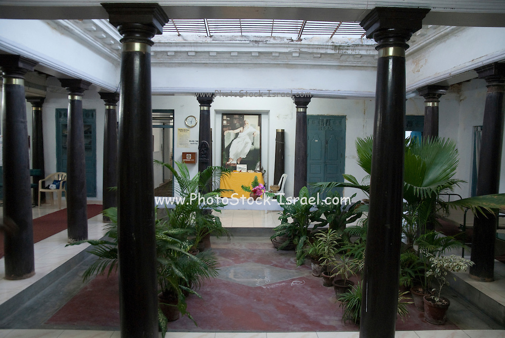 India, pondicherry, Ashram interior