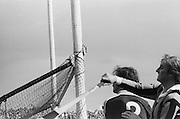 Shot of the post of the goal during the All Ireland Senior Hurling Final - Kilkenny v Galway, Kilkenny 2-12, Galway 1-8, 2nd September 1979.