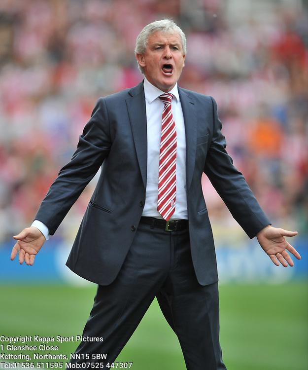 MARK HUGHES MANAGER STOKE CITY, Liverpool FC, Stoke City v Liverpool, Premiership, Britannia Stadium Sunday 9th August 2015Stoke City v Liverpool, Premiership, Britannia Stadium Sunday 9th August 2015