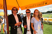 Freddie Hunt, Tom Hunt and Katie Rood, The Veuve Clicquot Gold Cup 2007. Cowdray Park, Midhurst. 22 July 2007.  -DO NOT ARCHIVE-© Copyright Photograph by Dafydd Jones. 248 Clapham Rd. London SW9 0PZ. Tel 0207 820 0771. www.dafjones.com.