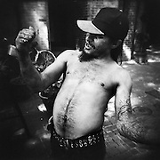 CHARLOTTESVILLE, VA – JUNE, 2007: A homeless man on the street.