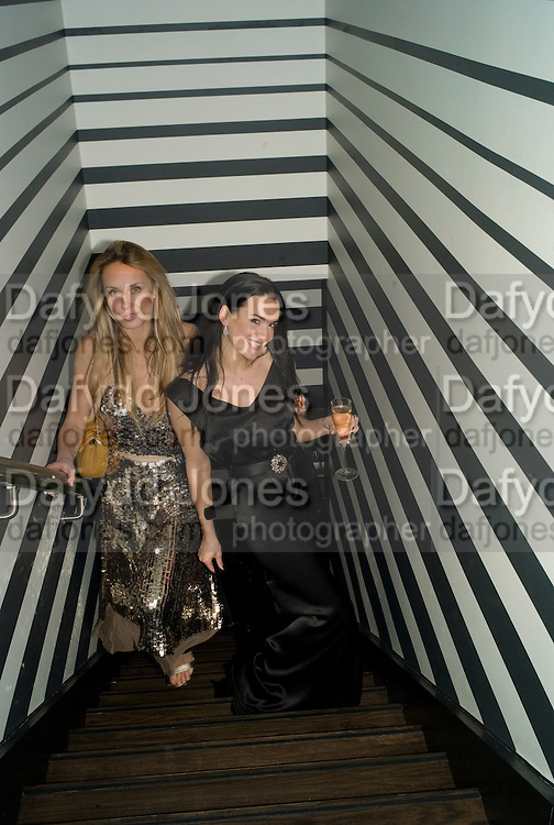 Arabella Boyce and Amelia Powers , Weinstein Bafta after-party in association with Chopard. Bungalow 8. London. 10  February 2008.  *** Local Caption *** -DO NOT ARCHIVE-© Copyright Photograph by Dafydd Jones. 248 Clapham Rd. London SW9 0PZ. Tel 0207 820 0771. www.dafjones.com.