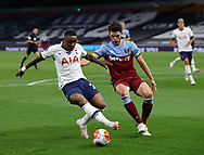 Steven Bergwijn of Tottenham tackled by Declan Rice of West Ham United during the Premier League match at the Tottenham Hotspur Stadium, London. Picture date: 23rd June 2020. Picture credit should read: David Klein/Sportimage