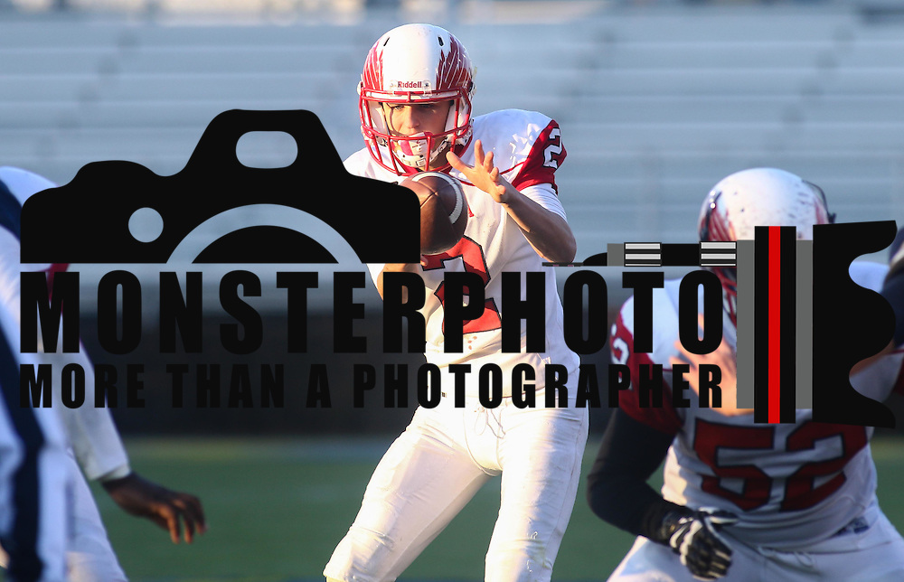 Smyrna quarterback Nolan Henderson (2) attempts to throw a pass in the fourth quarter during a DIAA Division I championship game between Smyrna and Salesianum Saturday, Dec. 05, 2015 at Delaware Stadium in Newark.