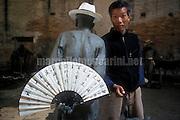 Venice Art Biennale 1999. Self-portrait by Chinese artist Cai Guo-Qiang / Biennale Arte di Venezia 1999. Autoritratto dell'artista cinese Cai Guo-Qiang - © Marcello Mencarini