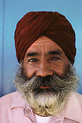 Sikh farmer in Yuba City, California. MODEL RELEASED.