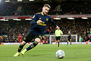 Arsenal defender Shkodran Mustafi (20) during the EFL Cup match between Liverpool and Arsenal at Anfield, Liverpool, England on 30 October 2019.