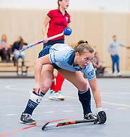  DELFT -  Mila Muyselaar (Lar)  (Nijm)   tijdens de zaalhockey competitiewedstrijd Laren-Nijmegen. COPYRIGHT KOEN SUYK