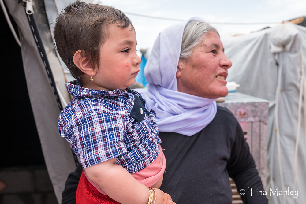UNHCR camp, thousands of Yazidi families with many children are arriving daily to the newly established refugee camp inside Syria, 40 km from the Iraqi border. around 5,000 families are estimated to be at the camp, more than 60 per cent children.