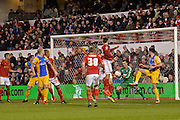 Nottingham Forest goalkeeper Dorus de Vries keeps the ball out the net during the Sky Bet Championship match between Nottingham Forest and Preston North End at the City Ground, Nottingham, England on 8 March 2016. Photo by Jon Hobley.