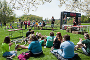 After all the O'Bleness Health System Race for a Reason runs were finished, participants waited for results and awards to be announced at Tailgreat Park across from Peden Stadium, Saturday, April 27, 2013. Race for a Reason, Race 4 A Reason, Annual Events, Events, Students, Faculty & Staff