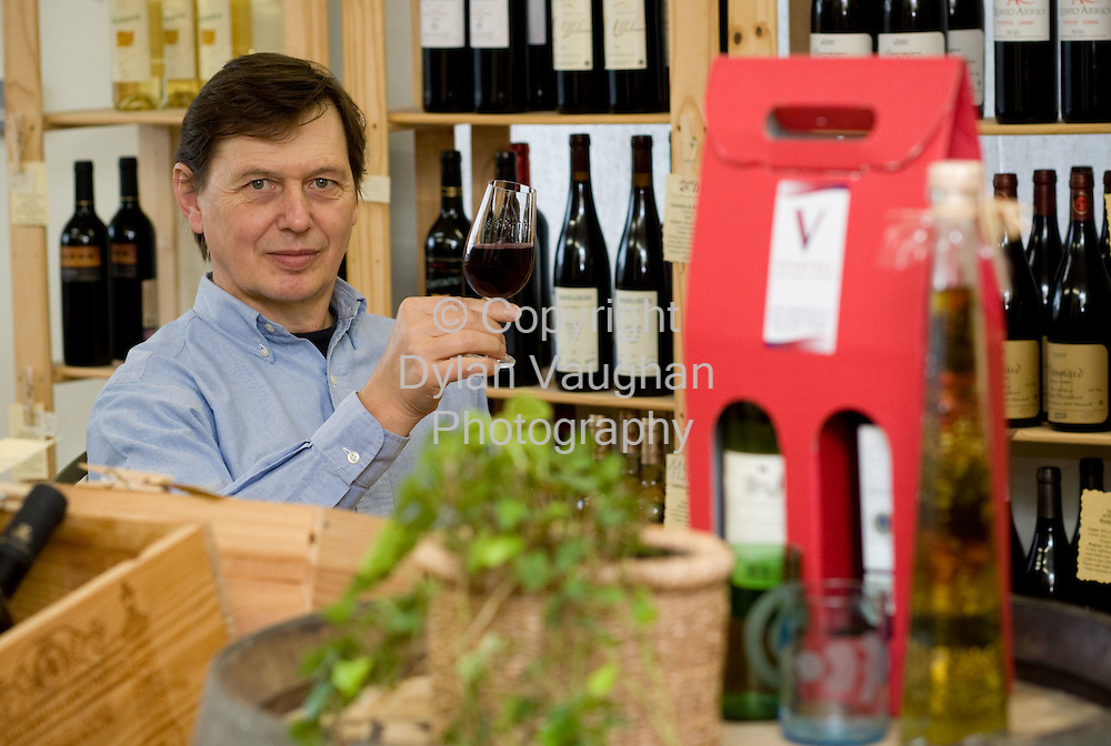 6/8/2008.Urs Tobler of Vendemia Wines Wines in Kilkenny..Picture Dylan Vaughan