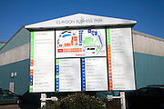 Map of modern business park, Claydon, Suffolk, England