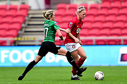 Jasmine Matthews of Bristol City is challenged by Megan Connolly of Brighton and Hove Albion Women - Mandatory by-line: Ryan Hiscott/JMP - 07/09/2019 - FOOTBALL - Ashton Gate - Bristol, England - Bristol City Women v Brighton and Hove Albion Women - FA Women's Super League