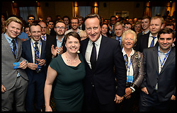 Image ©Licensed to i-Images Picture Agency. 29/09/2014. Birmingham, United Kingdom.  The Prime Minister David Cameron attends the Scottish Conservative reception on Day 2 of the Conservative Party Conference at the ICC Birmingham. Picture by Andrew Parsons / i-Images