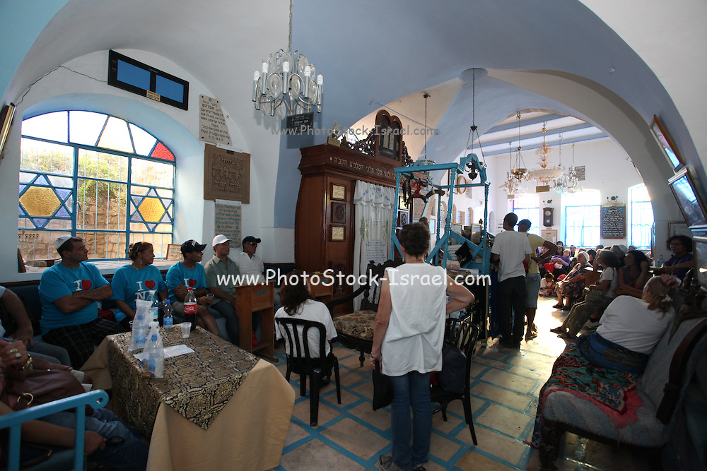 Interior of a synagogue in Safed, upper Galilee, Israel