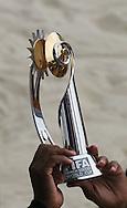 Footbal-FIFA Beach Soccer World Cup 2006 - Final- BRA xURU -Brazil Champion Chip, Trophy FIFA Beach Soccer -Rio de Janeiro- Brazil - 12/11/2006.<br />Mandatory Credit: FIFA/Ricardo Ayres