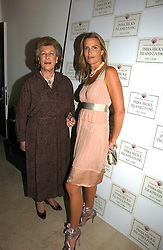 Left to right, LADY PAMELA HICKS and her daughter INDIA HICKS at a party to celebrate the launch of India Hick's 'Island Living' range of frangrance and beauty products in association with Crabtree & Evelyn held at The Hempel, Craven Hill Gardens, London on 22nd November 2006.<br /><br />NON EXCLUSIVE - WORLD RIGHTS